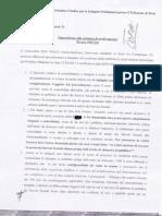 Ari vs Comune di Rieti Opposizione alla richiesta di archiviazione..