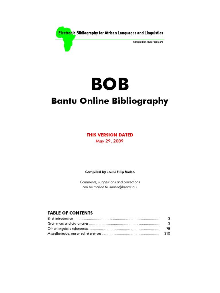 Bantu dictionary fandeluxe Choice Image