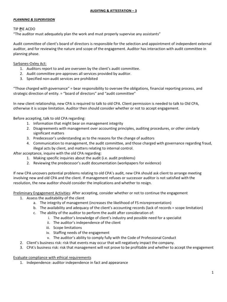 Auditing notes chapter 3 financial audit audit altavistaventures Image collections