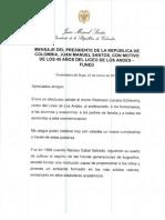 Carta Presidencia de La Republica
