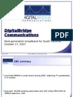 DigitalBridgeCommunicationsPresentation10-17-07