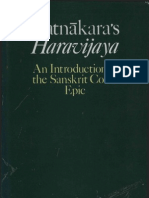 Ratnakaras Haravijaya An Introduction to the Sanskrit Court Epic