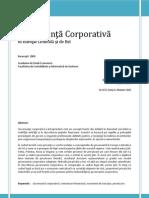 Guvernanta Corporativa in Europa Centrala Si de Est.