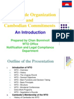 Cambodian Commitments for WTO membership