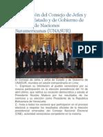 Declaración del Consejo de Jefes y Jefas de Estado y de Gobierno de la Unión de Naciones Suramericanas