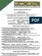 New dvd release Newsletter April 2013 - www.worldonlinecinema.com
