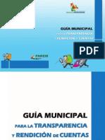 GUÍA MUNICIPAL PARA LA TRANSPARENCIA Y RENDICIÓN DE CUENTAS
