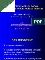 4b Gestion de La Fertilisation Potassique en Arboriculture