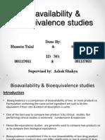 Bioavailability & Bioequivalence Studies