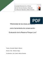 Efectividad de las áreas protegidas como herramienta de conservación: Evaluación de la Reserva Parque Luro