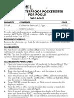 LaMotte 5-0078 Double Junction Salt PockeTester Instructions