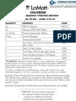 LaMotte 3176-01 Chlorine Kit Instructions