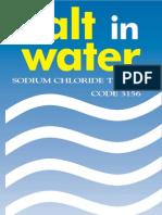 LaMotte 3156 Salt in Water Chloride Kit Instructions