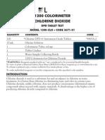 LaMotte 3671-01 DC1200-CLO Chlorine Dioxide Colorimeter Kit Instructions