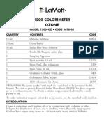 LaMotte 3678-01 DC1200-OZ Ozone Colorimeter Kit Instructions