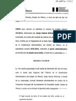 Sentencia Presidente M C Izcallí 19 2013