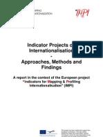 Full Indicator Projects on Internationalisation-IMPI 100511