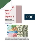 """¿Para qué sirve el """"voto popular""""?-Por Manuel Freytas"""