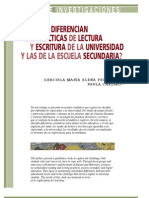 LECTURA Y VIDA- CARLINO - FERNÁNDEZ - En qué se diferencian las prácticas de l y e en la universidad de la es secund