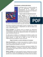 CLASIFICACIÓN DE LA PSICOLOGÍA SOCIAL