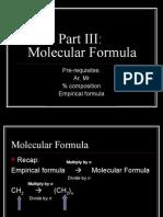 Molecular Formula & Molar Gas Vol