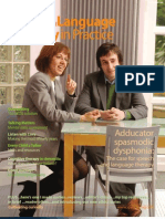 Speech & Language Therapy in Practice, Spring 2010