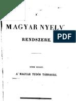 A Magyar Nyelv Rendszere 1846.