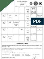 Legion Post 160 Roanoke Calendar May 2013