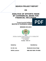 Analysis of Efforts Made by Commercial Banks for Financial Inclusion1