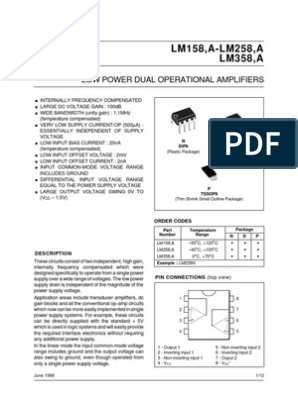 LM358 | Operational Amplifier | Power Supply