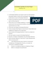 Guía de preguntas. El estructuralismo genético de Jean Piaget (1)