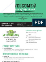 Church Bulletin for April 19 & 21, 2013