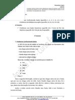 Analista TOP - aula 01 - Raciocínio Lógico