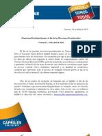 Resumen general de denuncias Comando Simón Bolívar