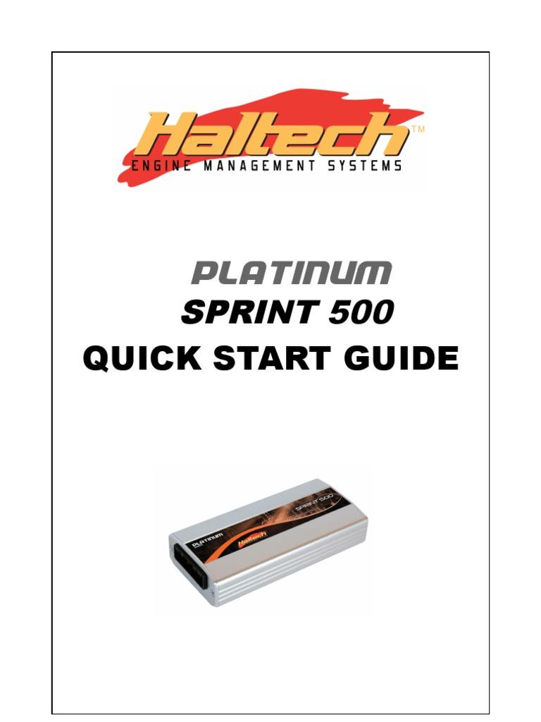 Haltech Platinum Sprint 500 Manual   Fuel Injection ... on