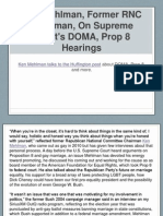 Ken Mehlman, Former RNC Chairman, On Supreme Court's DOMA, Prop 8 Hearings