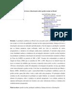 ALCANTARA, Melina Et. Al. - Balanco de Teses e Dissertacoes Sobre Gestao Escolar No Brasil