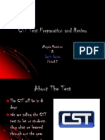 CST Test Preparation and Review (Alegria and Lenin)