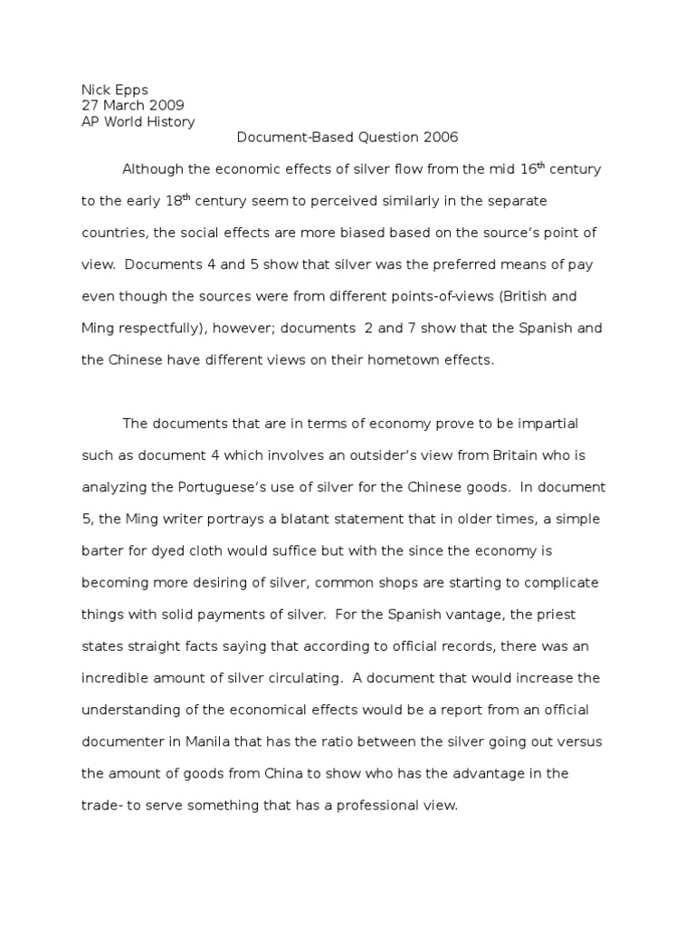 2002 ap world history dbq essay example