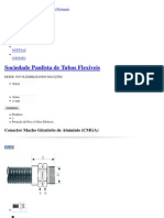 Conector Macho Giratório de Alumínio (CMGA) - Proteção de Fios e Cabos Elétricos _ SPTF - SOCIEDADE PAULISTA DE TUBOS FLEXÍVEIS LTDA
