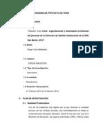 Proyecto de Tesis Clima Organizacional Dre 1