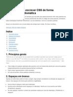 Princípios para escrever CSS de forma consistente e idiomática