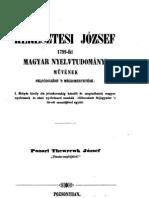 Keresztesi József 1799-iki Magyar Nyelvtudományi művének felfedezése 1844,