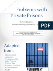 Problems With Private Prisons (2011)