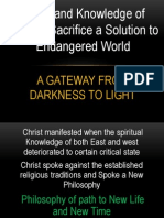 Jesus and Knowledge of Calvary Sacrifice a Solution to Endangered World
