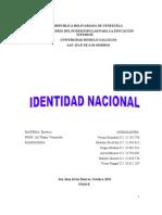 Trabajo de Identidad Nacional Maria Eugenia