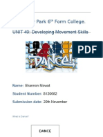 Booklet - Intro to Dance Print