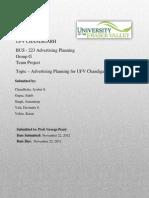 Advertising of UFV Chandigarh