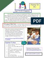 Newsletter April 19 2013