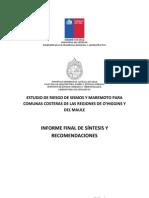 Estudio Riesgos Informe Final.  Informe  de mitigación de Riesgos de Tsunami yTerremoto, localidades de las regiones del Maule y O´higgins - Chile